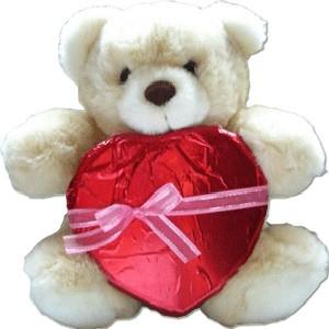 Heart Shape Chocolate With Teddy